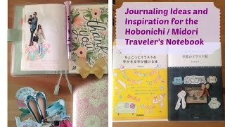 Journaling Ideas and Inspirations for your Hobonichi Midori Traveler
