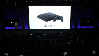 Sony's PlayStation event: PS4, PS4 Pro(The 2016 Sony Playstation Meeting officially announced the 'slim' standard PS4 and its Pro sibling. A slim version of the console was confirmed as simply being ..., 2016-09-07T22:30:07.000Z)
