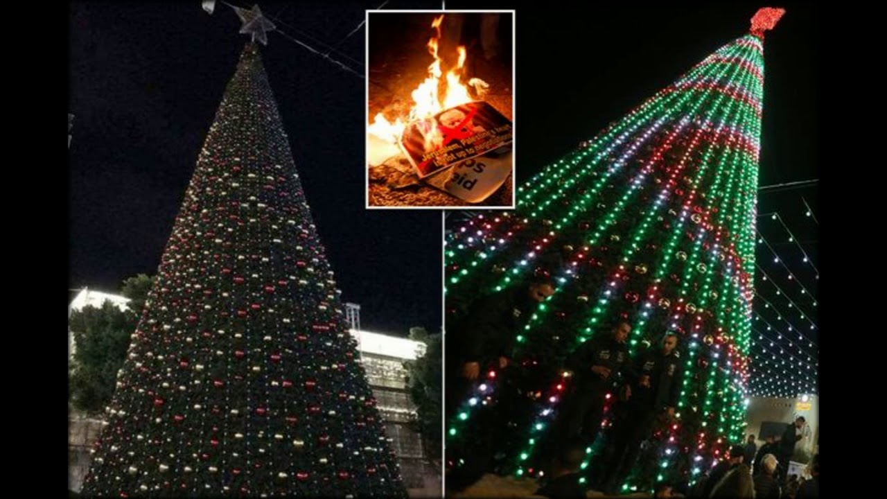 Christmas lights switched off in Bethlehem outside Jesus ...