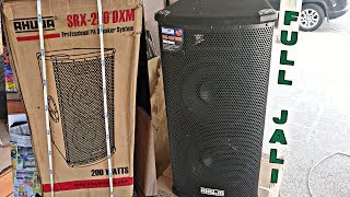 AHUJA SRX-250®DXM PA SPEAKER SYSTEMS UNBOXING & REVIEW