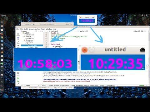 EXP-Example] Qt Creator QML: Mouse with MouseArea - Hide|Show Title