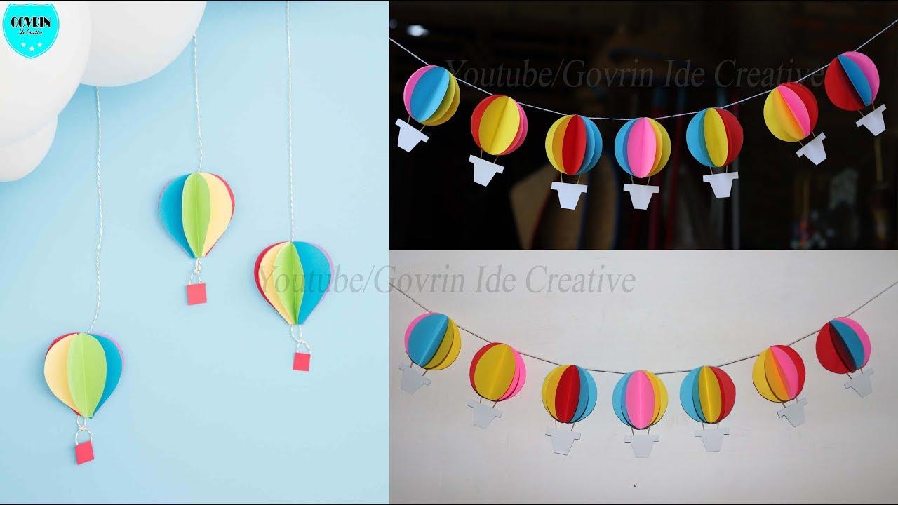 Hiasan Dinding Balon Udara