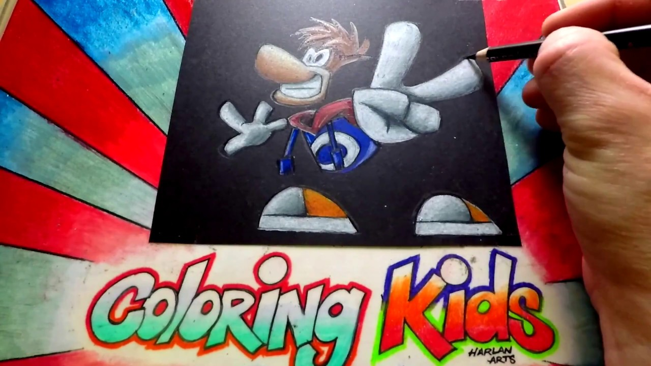 how to color rayman coloring pages for kids learn coloring techniques part 2