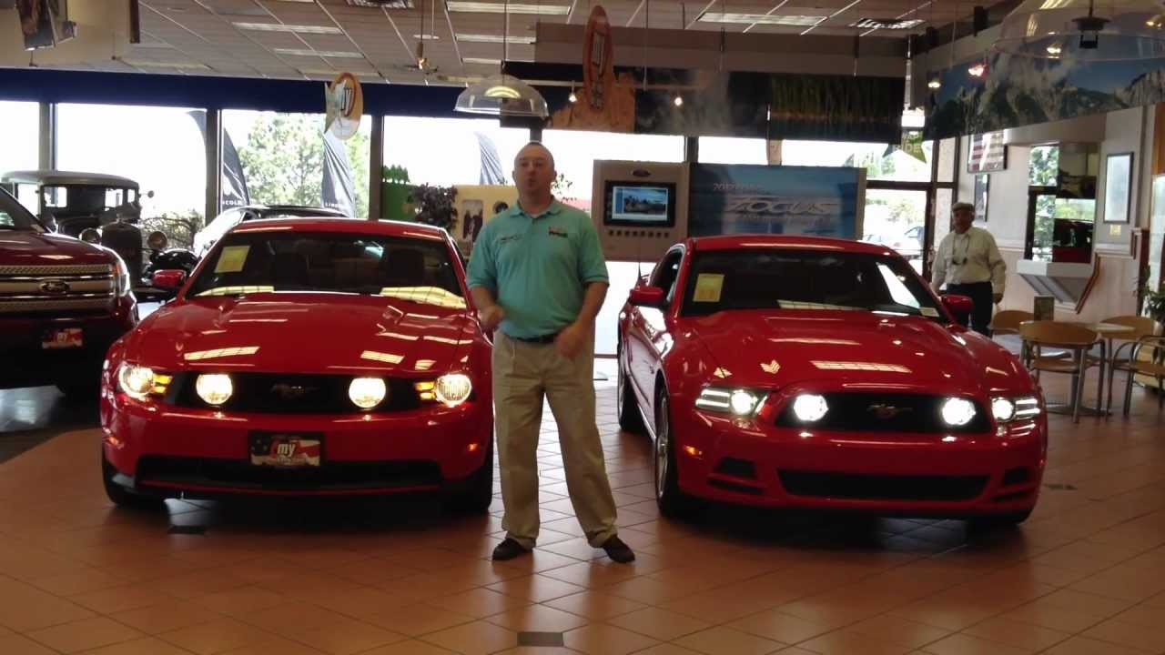 2013 Mustang Front Bumper >> 2013 vs 2012 Ford Mustang GT in Colorado Springs, CO - YouTube