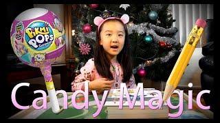 Magic Trick Candy Lollipop Pikmi Pops and Pencil Christmas Magic Funny Kids Children