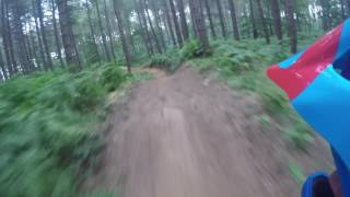 Commencal supreme dh on progression drop 4 at chicksands bike park