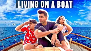 LIVING ON A BOAT FOR 24 HOURS | Rimorav Vlogs