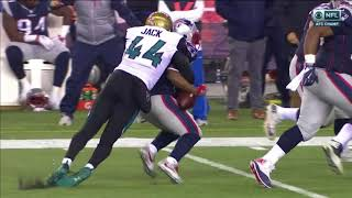 Myles Jack forces fumble and recovers: Patriots vs Jaguars AFC Championship