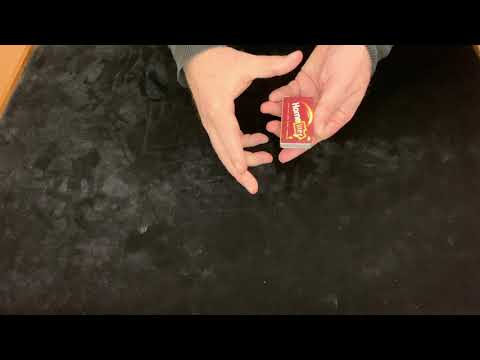 Card into match box video