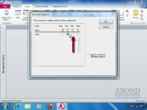 how to create a query in access 2010 youtube