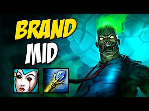1 Combo e Explode Qualquer Um - BRAND MID GAMEPLAY - LEAGUE OF LEGENDS