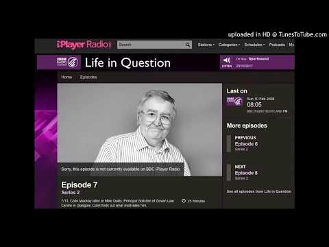 """BBC Radio Scotland - """"A Life in Question"""""""