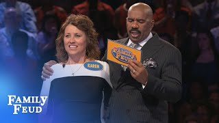 C'mon Steve! Let's PARTY!!! | Family Feud