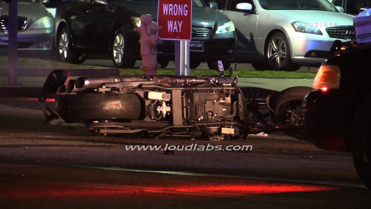 Motorcycle vs Auto Fatal / Torrance RAW FOOTAGE