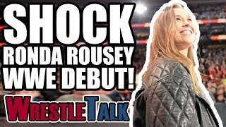 SHOCK Ronda Rousey WWE DEBUT! | WWE Royal Rumble 2018 Review