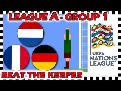 Marble Race - UEFA Nations League 2018/19 Prediction - League A - Group 1 - Algodoo