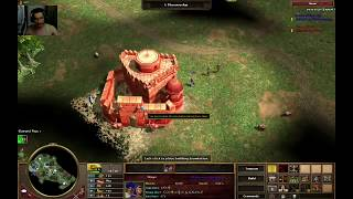 Age of Empires III: TAD India VS França Build de Rush com consulado Otomano - Yucatan