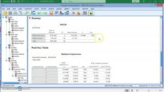 ANOVA Test Using IBM SPSS 26.