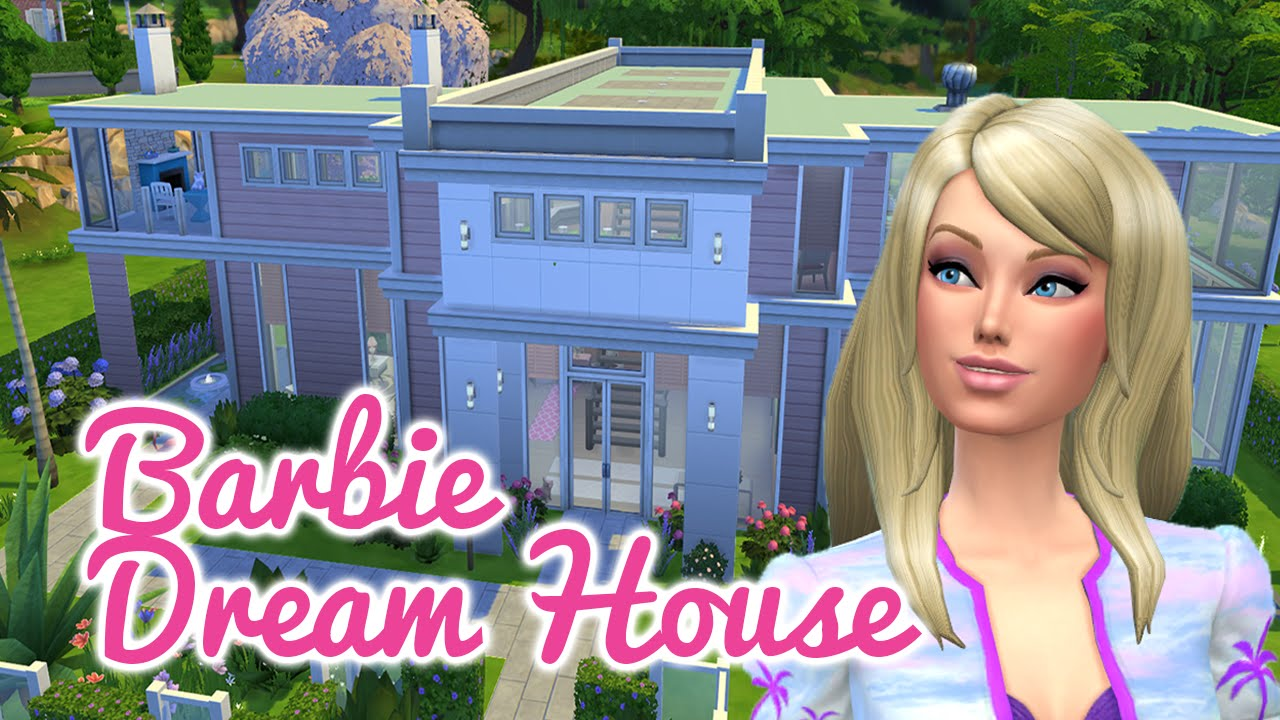 The Sims 4 Speed Build Barbie Dream House