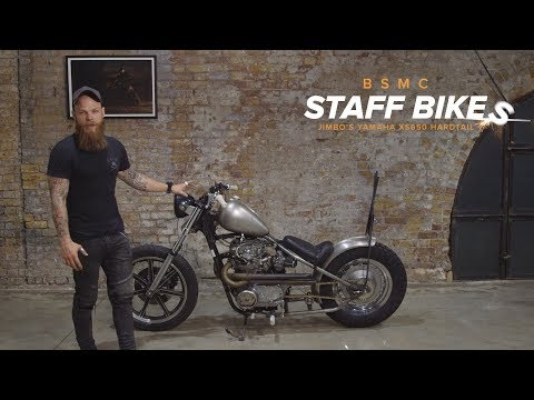 Jimbo's Shed Built Yamaha XS650 Hardtail - YouTube