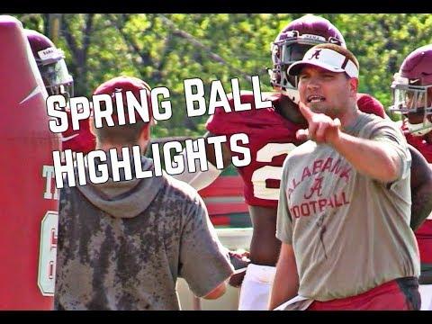 Alabama Spring Football Highlights
