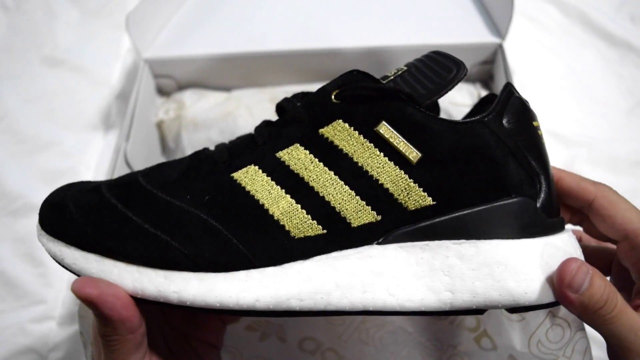 hot sale online cf9e0 c3f1b 1 Minute Unboxing - Adidas Busenitz Pure Boost 10th Anniversary (Black   Gold)