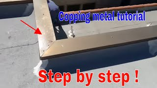 Installing Copping metal flashing ,step by step Video!!
