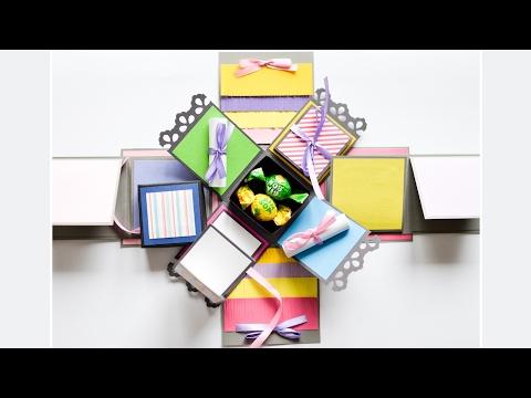 How to Make - Exploding Box Birthday Gift - Step by Step DIY | Eksplodujące Pudełko Urodziny Prezent