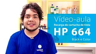 Vídeo Aula - Recarga Cartucho de Tinta HP 664