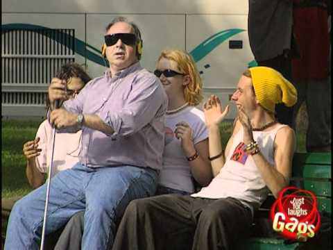 Blind Man Sits On People Prank