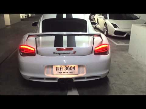 Porsche 987.2 PDK Cayman tunnel sound with Armytrix Valvetronic Exhaust