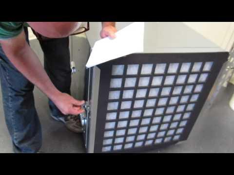 Abatement Technologies Negative Air Scrubber Negitive Demo and Testing H2000Hp