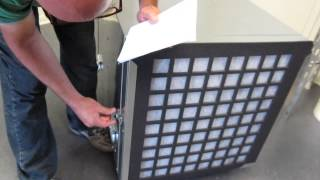 Abatement Technologies Negative Air Scrubber Negitive Demo and Testing H2000Hp