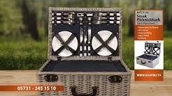 SMAK Picknickkorb aus Weidengeflecht für 6 Personen