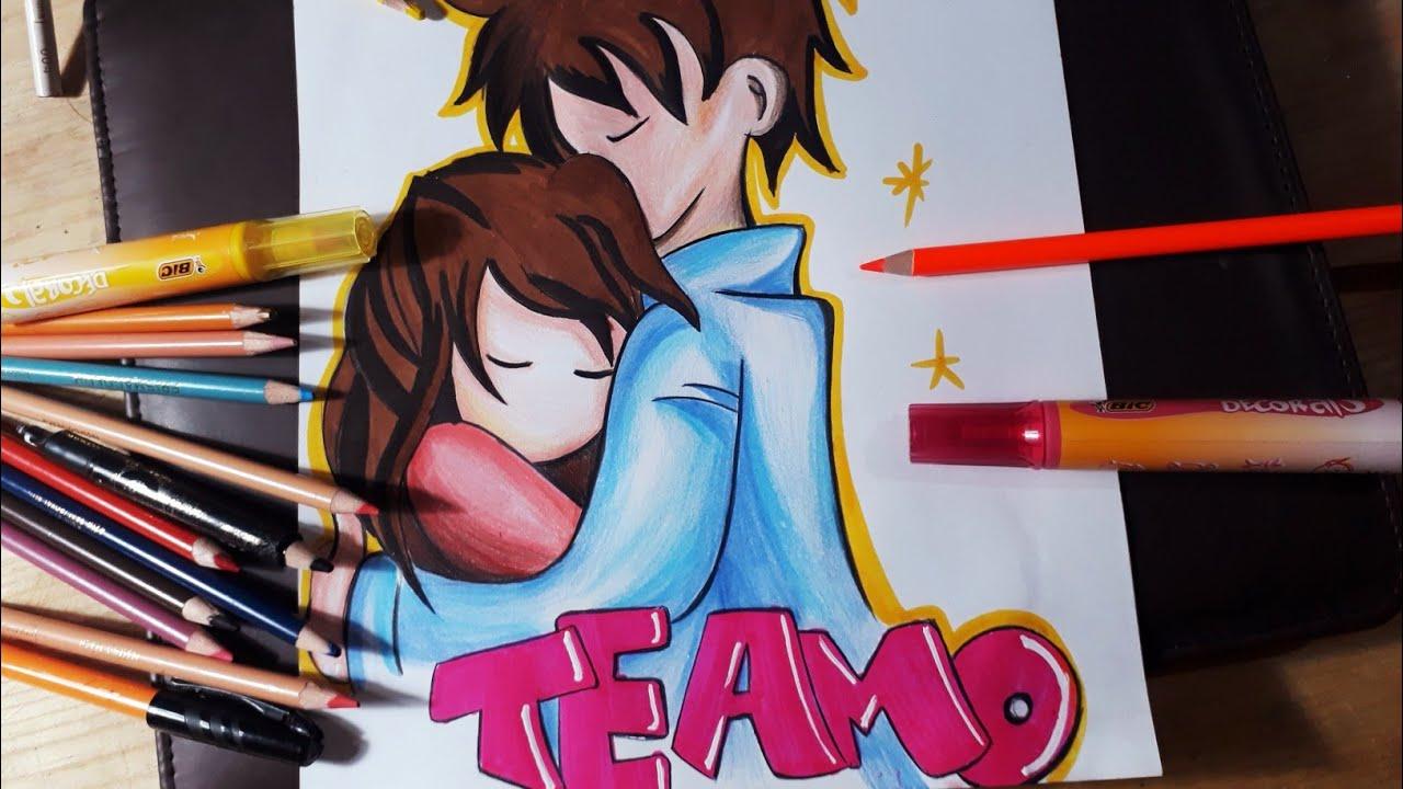 Como Dibujar Una Pareja Enamorada Dibujos De Amor Youtube