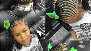 Different lil girl braid hairstyle