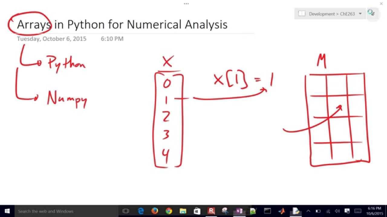 Arrays in Python / Numpy