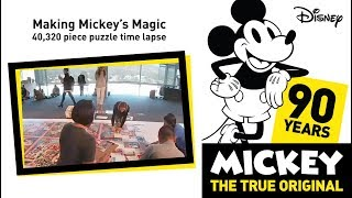 The World's Largest Mickey Mouse 40,000 pc Jigsaw Puzzle (Time Lapse) Ravensburger Puzzles