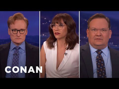 Conan & Andy Try On Rashida Jones' Glasses   CONAN on TBS