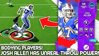 Josh Allen has UNREAL THROW POWER! Bodying Players! Madden 21