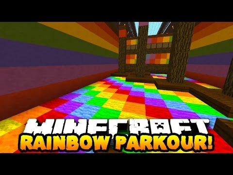 Minecraft RAINBOW PARKOUR CHALLENGE! (Find Hidden Items!)   w/ PrestonPlayz & TheCampingRusher