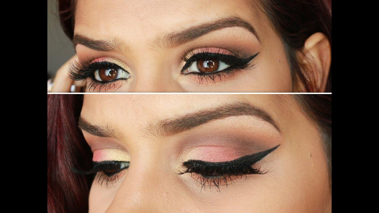 Peach Summer Makeup Deep Set Eyes Hooded