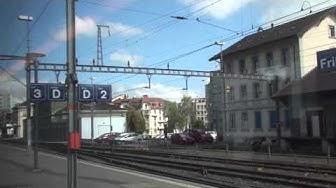 Gare de Fribourg / Bahnhof Fribourg / Fribourg railway station, Switzerland