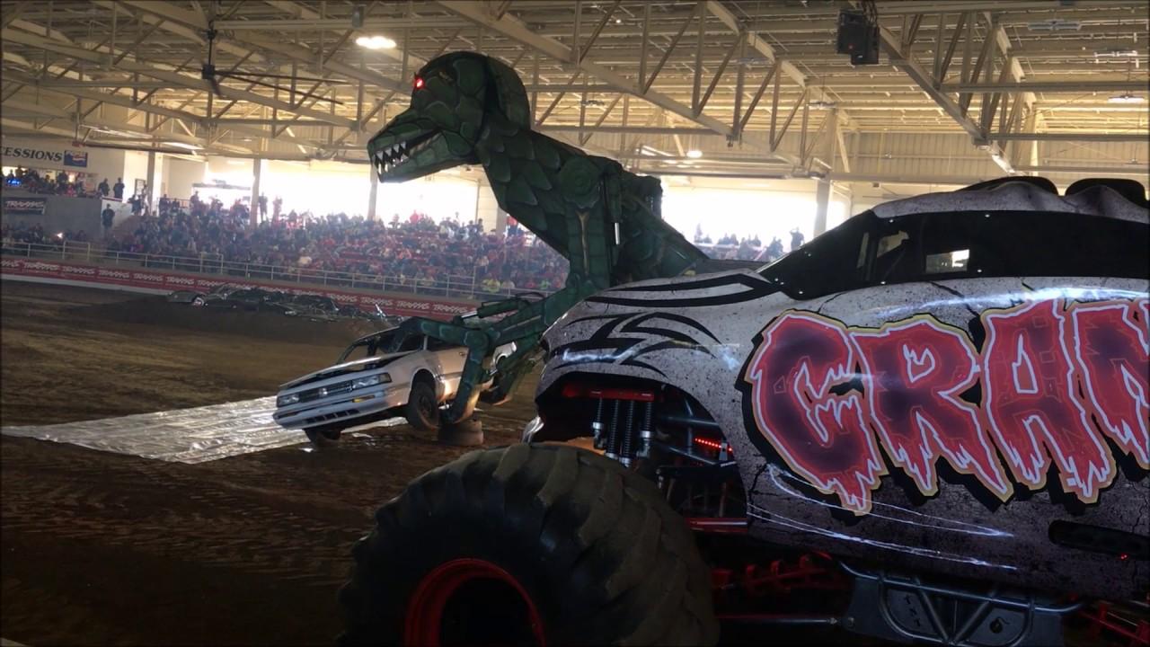 Car Eating Dinosaur The Carpetbagger Does Monster Trucks Youtube