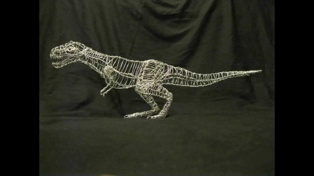 T-Rex Wire Sculpture - YouTube
