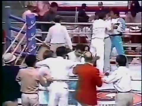 Boxing Referee Attacked :1988 SUMMER OLYMPICS SEOUL KOREA