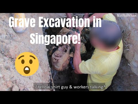 Grave Excavation | Grave Exhumation in Singapore Part 1/3 - Lim Chu Kang Cemetery