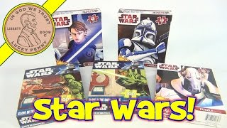Star Wars Jigsaw Puzzles Lot - The Clone Wars, Glow In The Dark, General Grievous, Anakin Skywalker