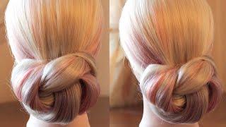Элементарная причёска на основе узла - Hairstyles by REM