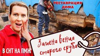 ДАЧА | Замена венца старого сруба | Реставрация деревянного дома